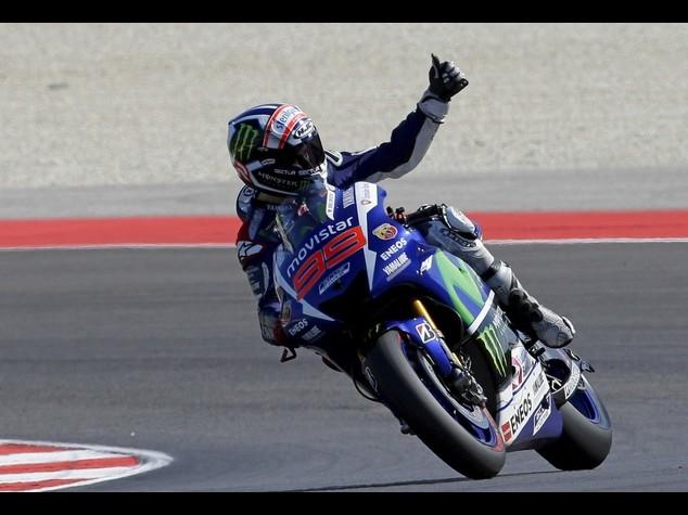 Motomondiale: Gp S. Marino, pole Lorenzo ma Marquez e Rossi vicini