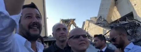 Salvini su Facebook ha mostrato il 'punto zero' del crollo del ponte Morandi