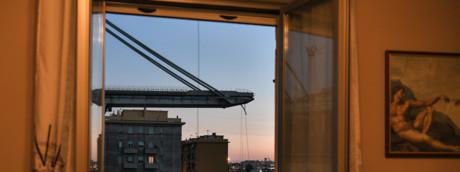 Quello che resta del Ponte Morandi