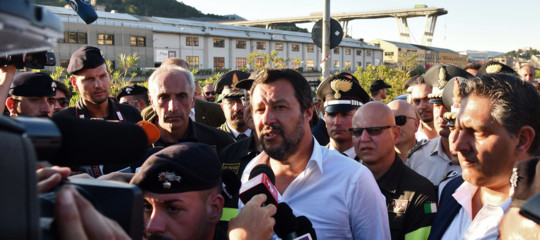 Crollo ponte: Salvini, rivedremo tutte le concessioni