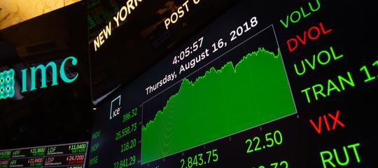 Wall Street: chiude in rialzo, Dow Jones +0,43% Nasdaq +0,13%