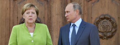 Angela Merkel e Vladimir Putin (Afp)