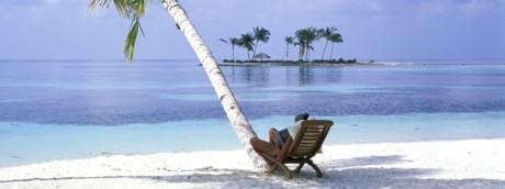 La spiaggia del resort Soneva Fushi alle Maldive