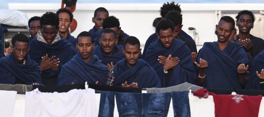I 29 minori sullaDiciottisono sbarcati. E tra Salvini e Fico è scontro