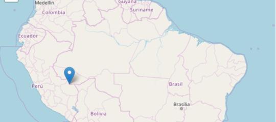 Sisma di magnitudo 7.1 al confine tra Perù e Brasile