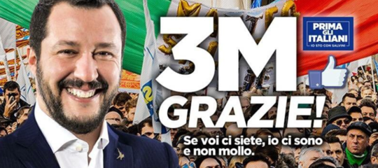 salvini 3 milioni like facebook