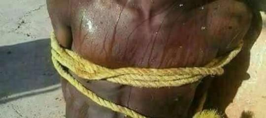Le due immagini pubblicate da Avvenire non sono tratte da un video sui lager libici