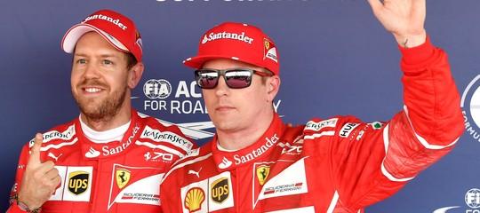 Prima fila tutta rossa a Monza: Raikkonenin pole davanti a Vettel
