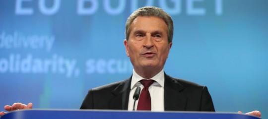 Oettinger: l'Italia non è unpericolo per l'Europa