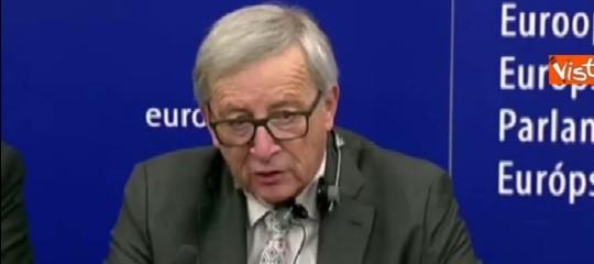 Ue,Juncker: sì aprogetto di pace; no nazionalismo che cerca colpevoli