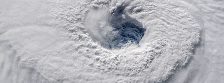 Una telecamera ad alta definizione dalla Stazione Spaziale Internazionale ha catturato una visione della NASA dell'occhio dell'uragano di Florence alle 7:50 EDT del 12 settembre 2018