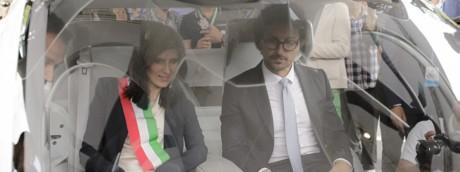 Chiara Appendino e Danilo Toninelli il giorno dell'inaugurazione del Salone dell'auto di Torino