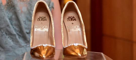 80e698f420e99 Di cosa sono fatte le scarpe da 17 milioni di dollari in vendita a Dubai