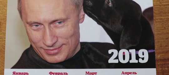 In Russia è stato pubblicato il calendario Putin2019