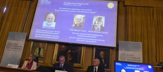 Nobel fisica: premiati tre scienziati pionieri del laser