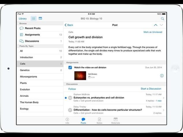Apple: su Ipad corsi per insegnanti e discussioni fra studenti