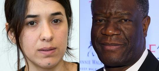 Nobel per la Pace aMukwegeeMuradper l'impegno contro gli stupri di guerra