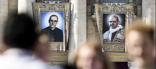 Papa santi Paolo VI Oscar Arnulfo Romero