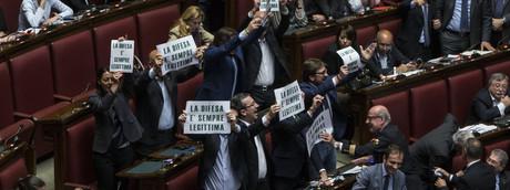 CAMERA DEI DEPUTATI, VOTO SULLA LEGITTIMA DIFESA: LA LEGA PROTESTA (Imagoeconomica)