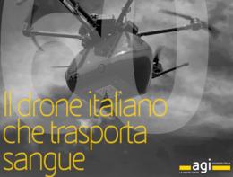 """Storie in 60"""":Il drone italiano che trasporta sangue"""