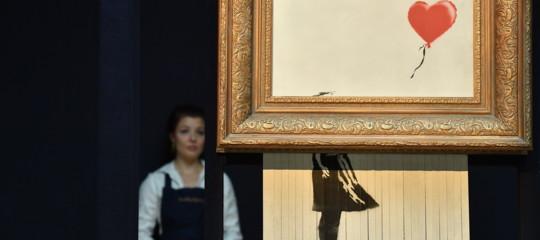 Il mistero del quadro diBanksydistrutto solo per metà (e che adesso è l'affare del secolo)