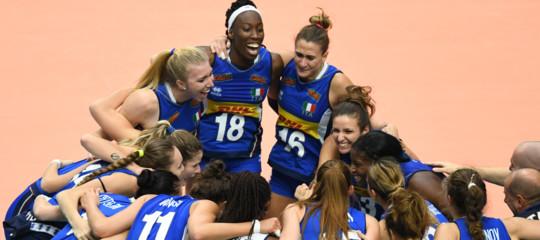 Volley: Italia in finale, le ragazze azzurre battono la Cina