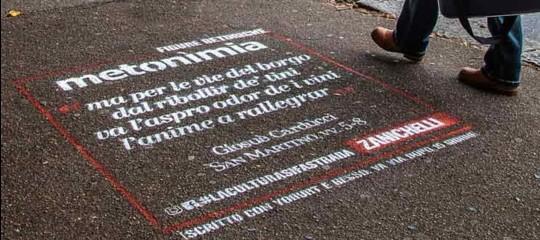 zanichelli graffiti marciapiedi