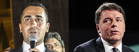 Luigi Di Maio - Matteo Renzi (Agf)