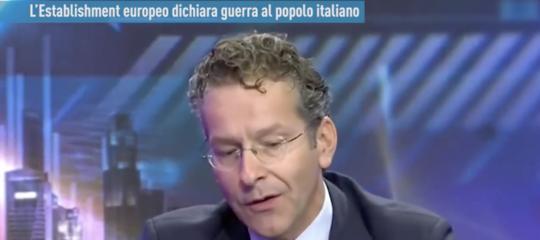intervista falsa dijsselbloem attacco mercati italia