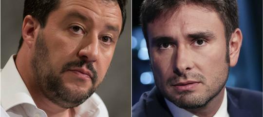 """Salvini replica a Di Battista: """"Fiducia? L'ha votata ilM5snon FI. Sarà il fuso"""""""