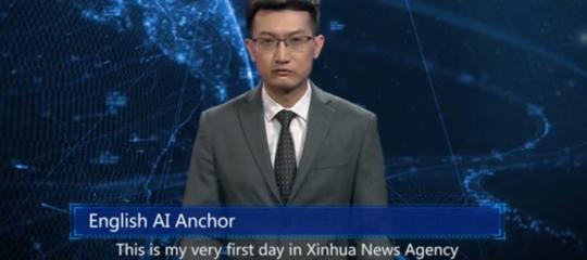 Xinhuaconduttore telegiornale intelligenza artificiale