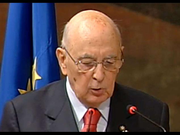 """Napolitano, """"Basta corruzione""""  """"Ma antipolitica e' eversione"""""""