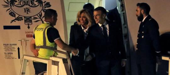 G20 gilet giallo accoglie Macron