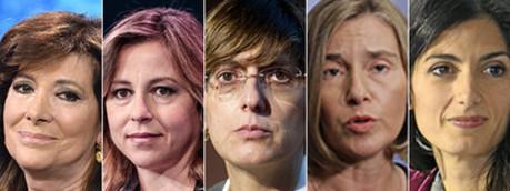 Elisabetta Casellati, Giulia Grillo, Giulia Bongiorno, Francesca Mogherini, Virginia Raggi