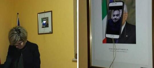 sindaco decollatura SelfieMattarella