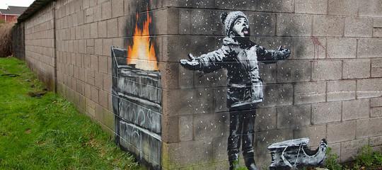 banksy murales galles