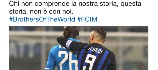 L'Inter su Twitter ha scritto un messaggio molto chiaro sulla vicendaKoulibaly