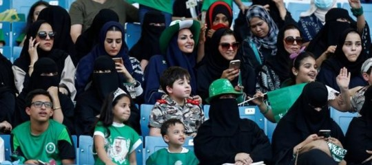 Supercoppa Arabia Saudita donne sole stadio