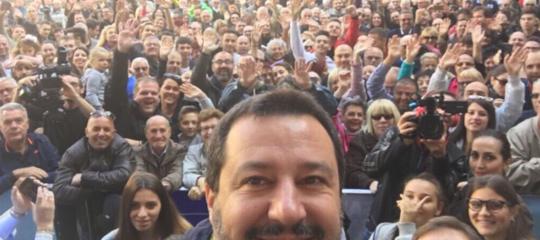 Matteo Salvini che fa cose