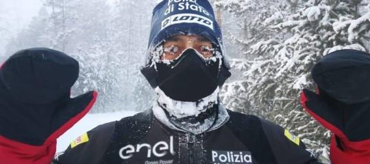 Record delpoliziotto-runneritaliano: 39 chilometri in Russia a -52 gradi