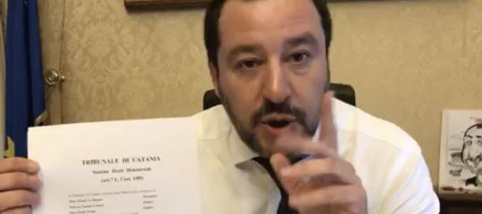 """Salvini sul casoDiciotti: """"Mi dichiaro colpevole"""""""