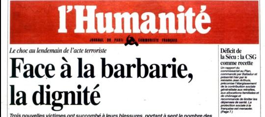 Il giornale comunista francesel'Humanitèè sull'orlo del fallimento