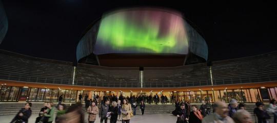 aurora boreale roma parco della musica