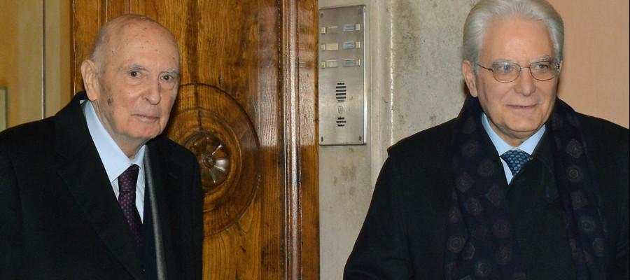 Mattarella: grazie a Napolitano, italiani sono riconoscenti