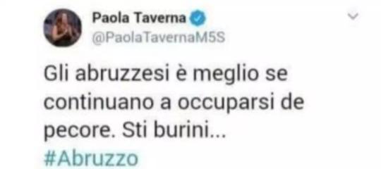 Circola un falso tweet di Taverna sulle elezioni in Abruzzo