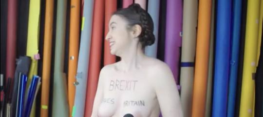 protesta brexitnuda
