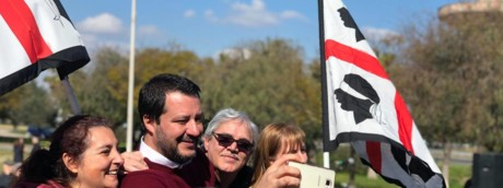 Matteo Salvini in Sardegna
