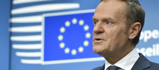 """Tuskapre a un rinvio dellaBrexit: """"Sarebbeuna soluzione razionale"""""""