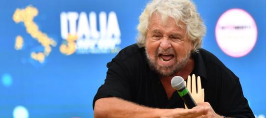 Le frasi diGrillo a Catania suM5s, Lega e governo