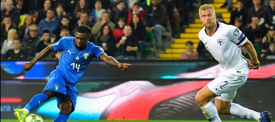 Calcio, esordio positivo per l'Italia sul palcoscenico d'Europa: 2-0 alla Finlandia